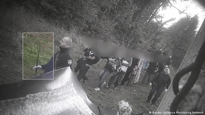 صورة لهراوات تم توفيرها للسلطات الكرواتية واستخدمت في عمليات صد، تم التقاطها عبر كاميرا خفية في أكتوبر 2018.