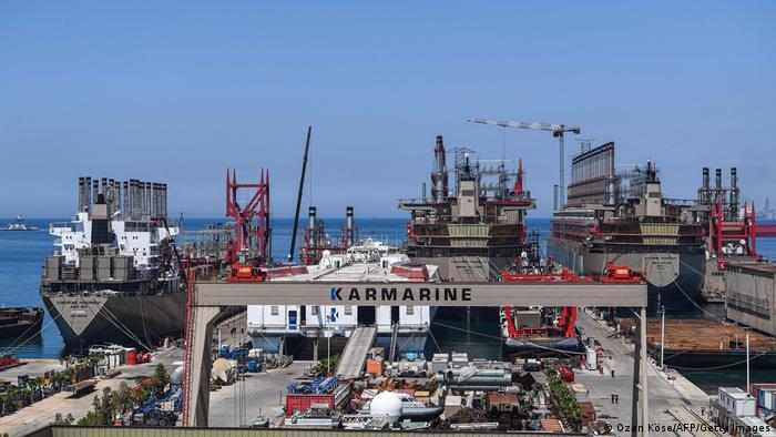 Türkei Elektrizitätsversorger Karpowership Hafen in Yalova