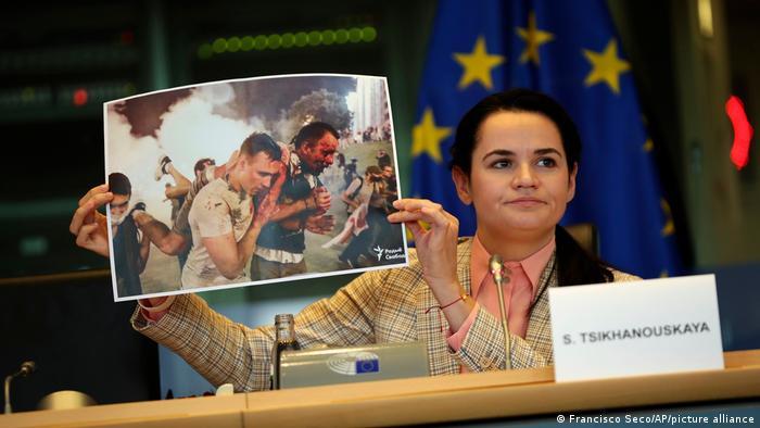 Светлана Тихановская в Брюсселе
