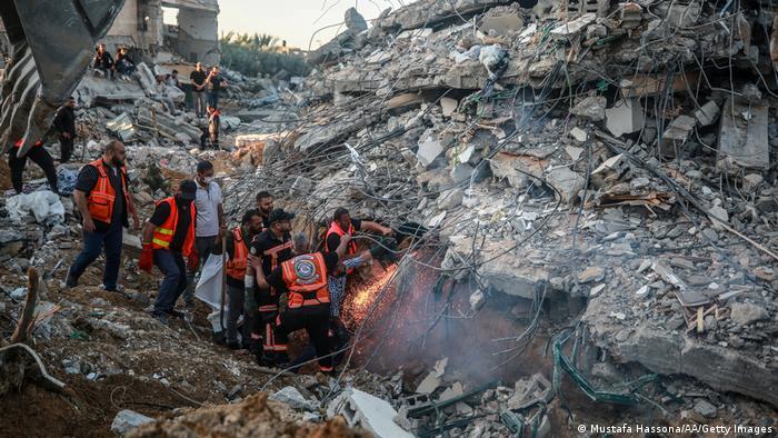 نمونهای از ویرانیهای بمباران اسرائیل در نوار غزه