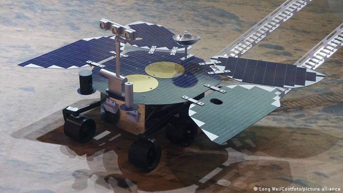 A Zhurong Mars rover model
