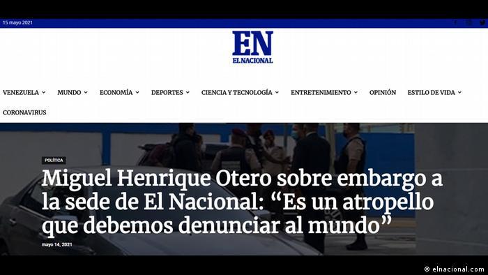 Ein Skandal, den wir vor der Welt anprangern müssen - so kommentierte El Nacional-Herausgeber Otero die Aktion