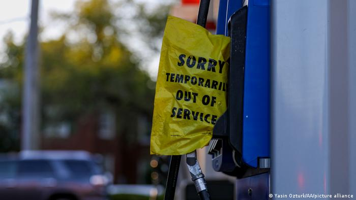 A sign reads Temporarily Out of Service after a ransomware cyberattack