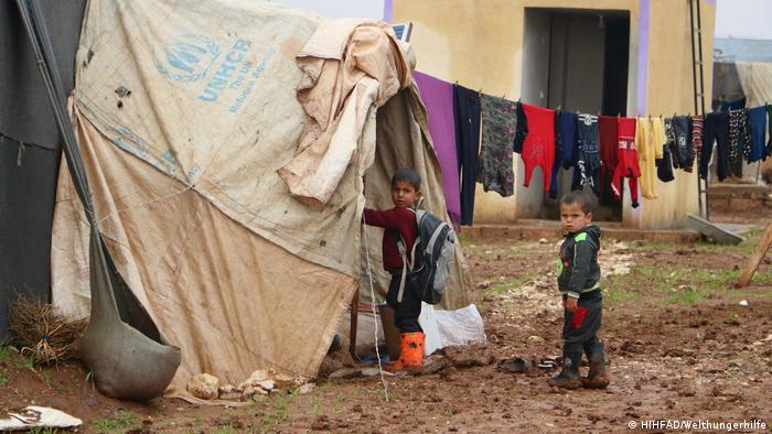 Лагерь для беженцев в Идлибе