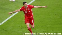 Fussball Bundesliga l Lewandowski - Torjubel