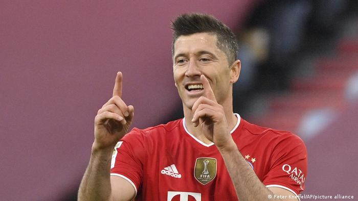 Fussball Bundesliga l Lewandowski - Jubel