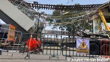 Mexiko-Stadt Metro Unglück Unfallstelle