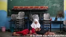 Газа: жінка з донькою знайшли притулок у школі ООН