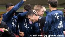 Fussball Bundesliga l 33. Spieltag l Freiburg vs Bayern München Tor 0:1