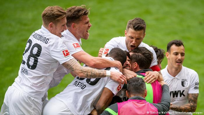 Augsburg celebrate a goal