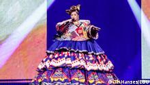 Russische Sängerin Manizha auf der Bühne des Eurovision Song Contest in Rotterdam im Mai 2021 via Andreas Brenner, 15.05.2021
