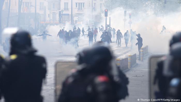 Frankreich l Gaza Konflikt l Pro Pälestinenische Demonstration in Paris