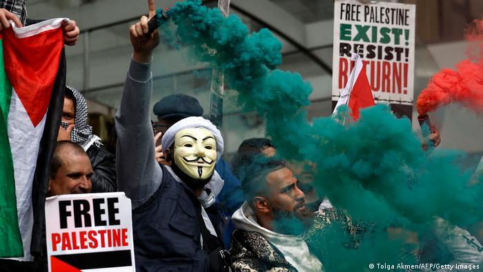 Großbritannien l Gaza Konflikt l Pro Pälestinenische Demonstration in London