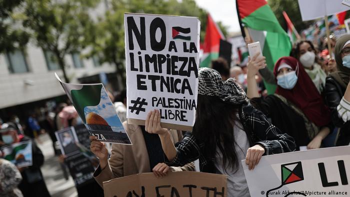 Spanien l Gaza Konflikt l Pro Pälestinenische Demonstration in Madrid