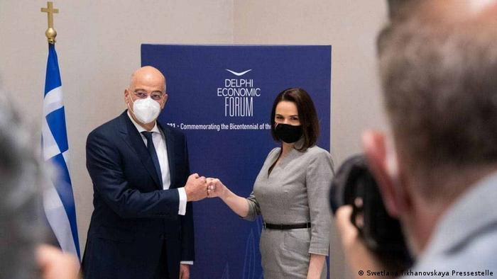 Светлана Тихановская и Никос Дендиас