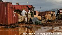 Libanon Beirut |Entsorgung giftiger Substanzen im Hafen