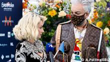 Natalia Gordienko - Teilnehmer aus Moldau beim Eurovision Song Contest 2021 in Rotterdam während der Eröffnungszeremonie mit ihrem Mentor Philipp Kirkorov