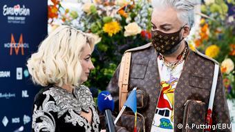 Наталья Гордиенко и Филипп Киркоров на церемонии открытия Евровидения-2021 в Роттердаме