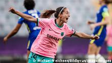210516 Aitana Bonmati of Barcelona celebrate after scoring 0-3 during the UEFA Women s Champions League football match