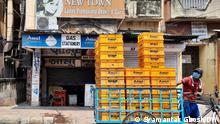 Indien Kolkata Lockdown