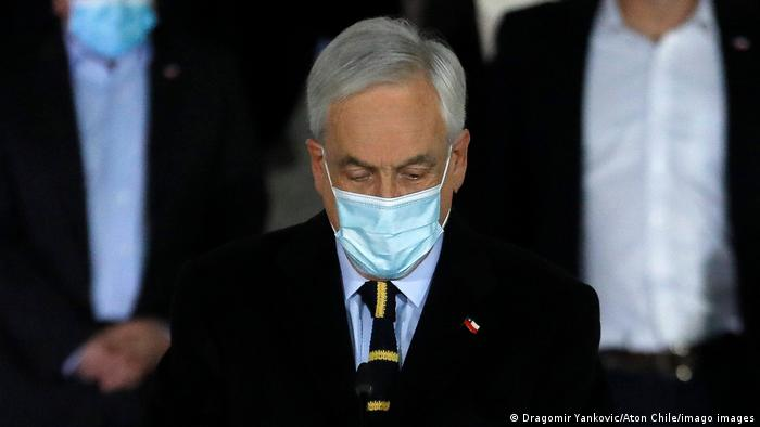 Chile Wahlen Pressekonferenz Sebastián Piñera