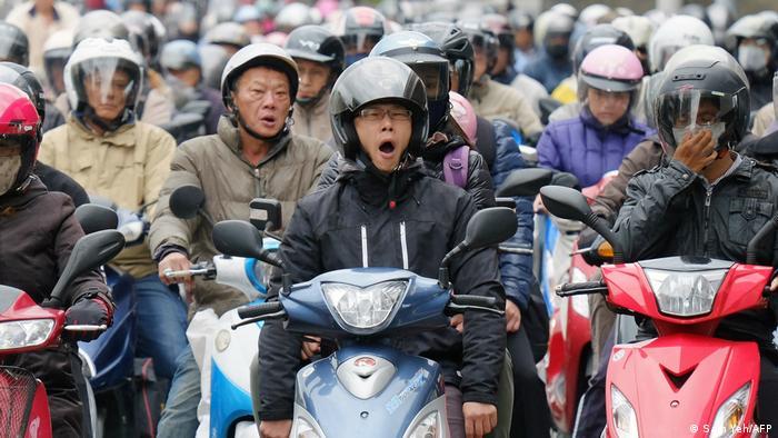Zu lange Arbeitszeiten? Eine Straßenszene in Taiwans Hauptstadt Taipeh