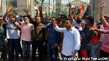 KOLKATA, WEST BENGAL, 17-05-2021+++ TMC SUPPORTERS AGITATING AGAINST ARREST OF LEADERS AND MINISTERS BY CBI IN NARDA SITING IN KOLKATA INFRONT OF RAJ BHAVAN AND CBI OFFICE