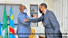 Frankreich Treffen des kongolesischen Präsidenten Félix Tshisekedi mit dem ruandischen Präsidenten Paul Kagame