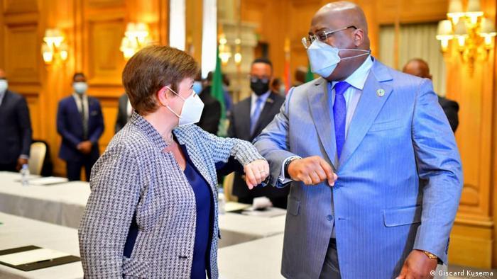 Frankreich   Félix Tshisekedi und Kristalina Georgieva   Treffen
