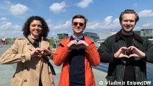Von links nach rechts -- Tatjana Chomich, Anton Rodnenkov, Ivan Kravzov Copyright Vladimir Esipov/DW