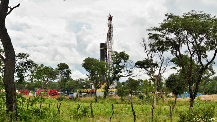 An oil well in Namibia's Kavango Basin