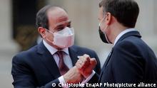 Frankreich Gipfel Abdel Fattah el-Sissi und Emmanuel Macron