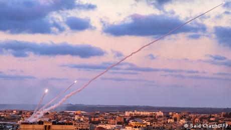 Three rockets launched from the southern Gaza Strip toward Israel