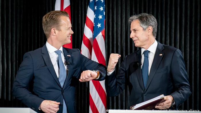 Dänemark PK Jeppe Kofod und Antony Blinken