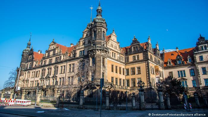 Deutschland Aussenansicht Grünes Gewölbe in Dresden
