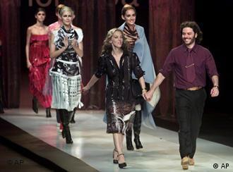مارتین چوربا و جسیکا تروسمان، طراحان آرژانتینی پس از نمایش مد در سائوپولو ی برزیل