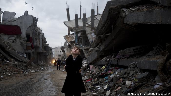 Foto: Seorang anak Palestina di Gaza pada Oktober 2014