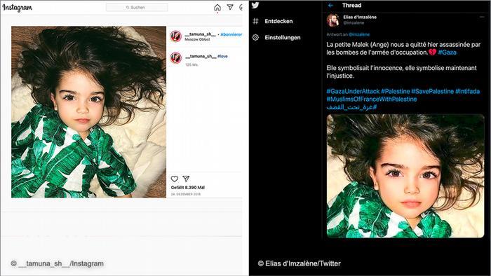 Sebuah cuitan yang secara keliru mengklaim seorang gadis terbunuh di Gaza