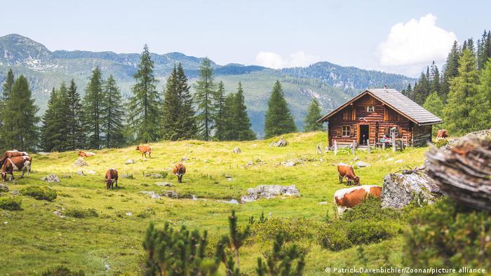 Österreich, Berghütte in den Alpen