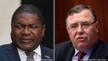 Filipe Nyusi (Präsident Mosambik) und Patrick Pouyanné (CEO Total)