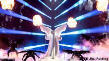 TIX - Teilnehmer des ESC in Rotterdam aus Norwegen auf der Bühne des Eurovision Song Contestt