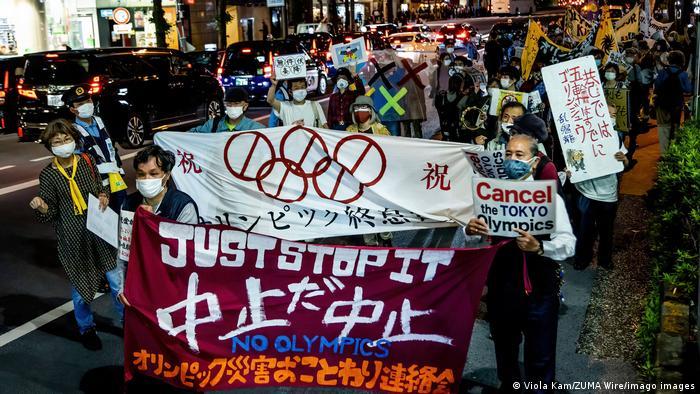 Japan Anti-Olympia-Demonstration in Tokio