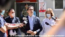 Der mazedonische Präsident Stevo Pendarovski lässt sich impfen, Aufnahmedatum/-ort: 18.05.2021, Kumanovo, Nord-Mazedonien Rechte: Kabinett des Präsidenten von Nord-Mazedonien)