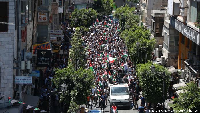 Anti-Israel-Demonstration in Ramallah