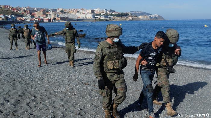 Migration I Ceuta I Grenze zwischen Marokko und Spanien