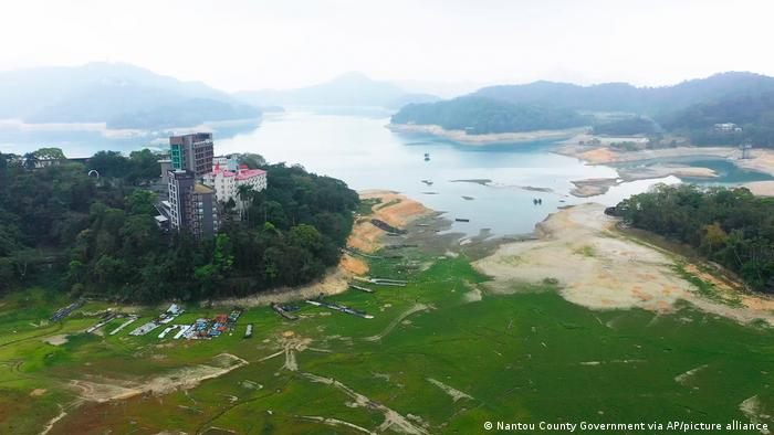 A shrinking lake in central Taiwan
