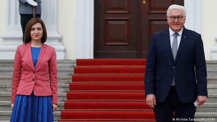 Moldovan president Maia Sandu meets German president Frank-Walter Steinmeier