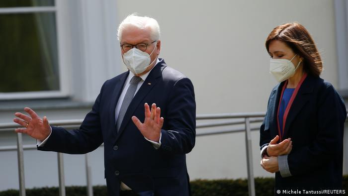 Frank-Walter Steinmeier și Maia Sandu la Berlin