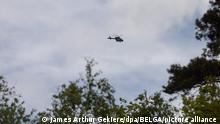 Belgien Polizeihubschrauber Fahndung Soldat