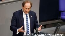 Alexander Graf Lambsdorff of the Free Democratic Party (FDP) speaks during a session at the Bundestag (lower house of parliament) on May 19, 2021 in Berlin. (Photo by Odd ANDERSEN / AFP) (Photo by ODD ANDERSEN/AFP via Getty Images)